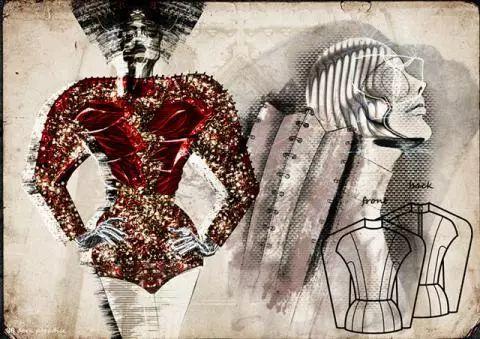 Student's work. Interested in Fashion Design? Check IFA Paris' Signature Program in Fashion design @ http://www.ifaparis.com/courses/undergraduate/bachelor-fashion-design-technology