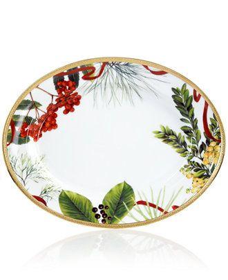 Charter Club Dinnerware, Holly Berry Platter - Fine China - Dining & Entertaining - Macy's
