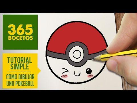 COMO DIBUJAR UNA POKEBALL KAWAII PASO A PASO - Dibujos kawaii faciles - How to…