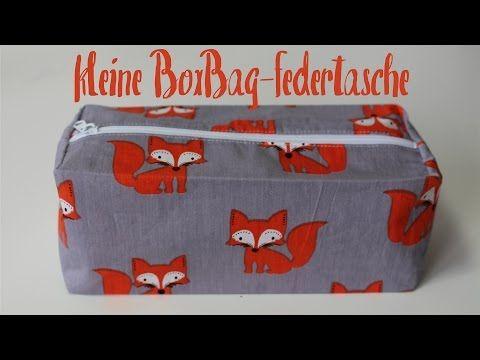 kleine Box Bag Federtasche nähen | Reißverschlusstasche - DIY Tutorial | Nähanleitung - YouTube