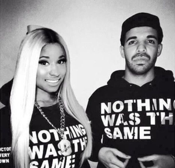 New Fashion Custom Made Nicki Minaj/Drake Sweatshirt Hoody Fashion Clothing Black and White