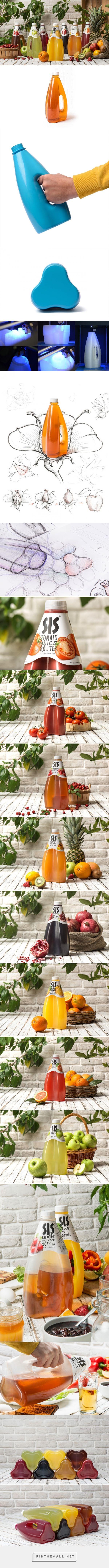 SIS Juice Packaging designed by Backbone Branding (Armenia) - http://www.packagingoftheworld.com/2016/02/sis.html
