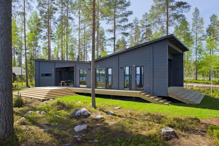 Honka Blockhaus Modell Lokki Aussenansicht