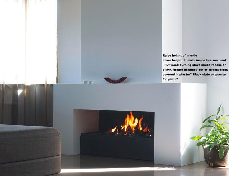 fireplace insertion for wood burner
