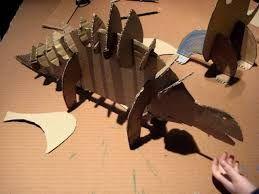 Risultati immagini per costruire dinosauri con cartoni