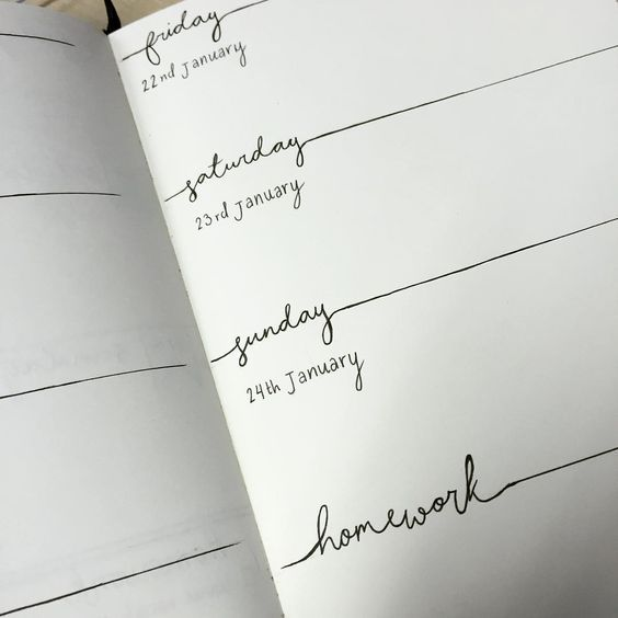 """so ive decided to start bullet journaling - I think I quite like this layout for next week  #bulletjournal"""
