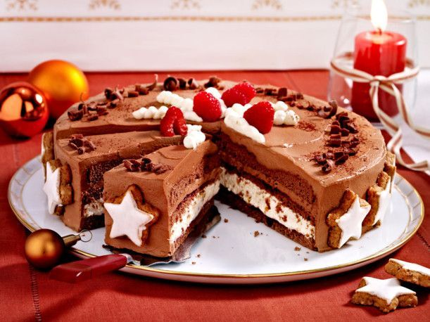 Unser beliebtes Rezept für Schoko-Zimtstern-Torte und mehr als 55.000 weitere kostenlose Rezepte auf LECKER.de.