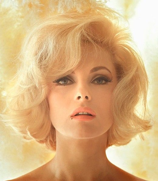 virna lisi - 60's touseled bob with sidesweep
