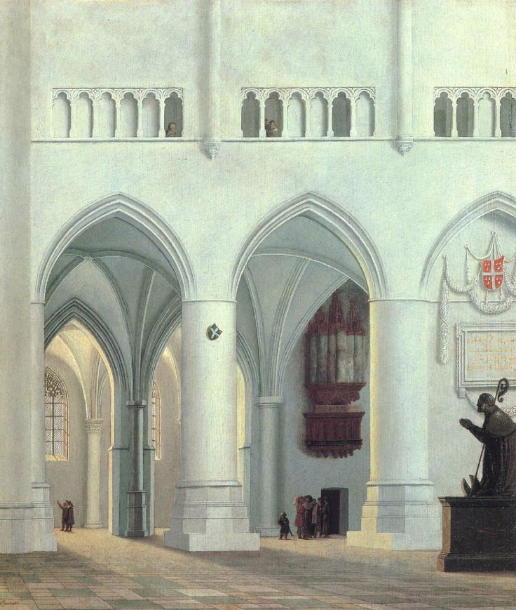 Pieter Saenredam – Interior of the Church of St. Bavo at Haarlem (1638)
