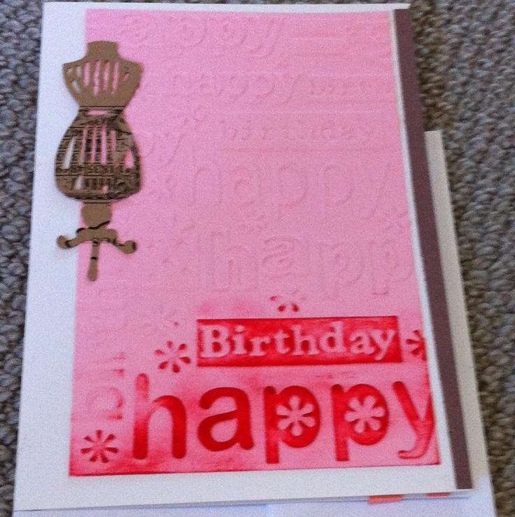 fashion birthday card