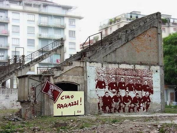 Tribute to Grande Torino and stadium...