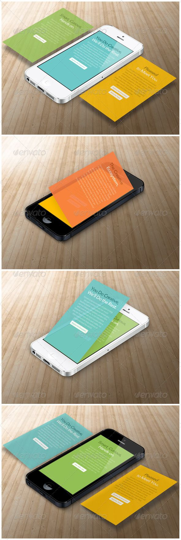 Phone App Mock up - Mobile Displays $4