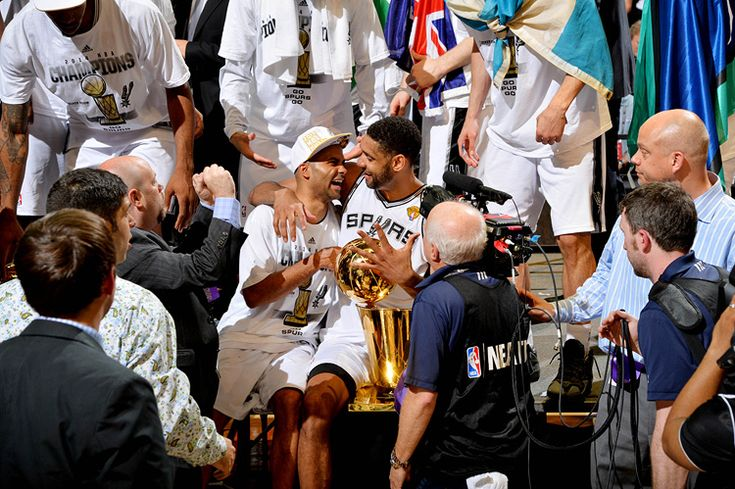 The Spurs defeated the Miami Heat 104-87 in Game 5 to become the 2014 NBA Champions.