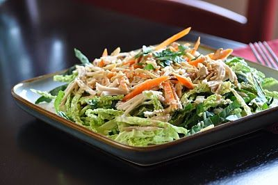 Asian Chicken Salad with a Soy-Free Dressing - carrots, almonds ...