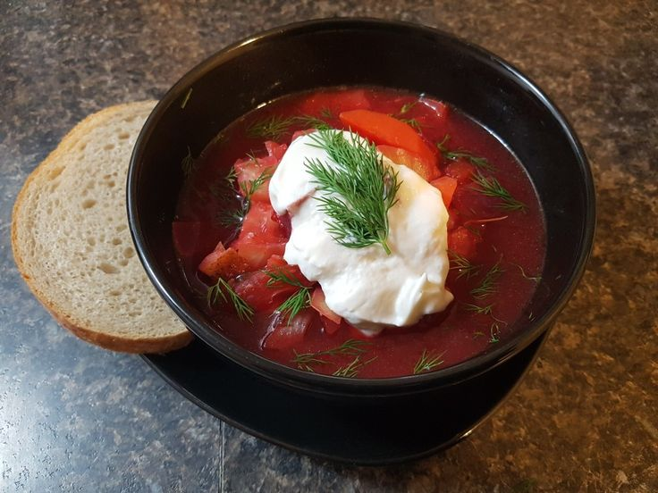 Home Made Borscht  A Traditional Vegetarian Beet Soup