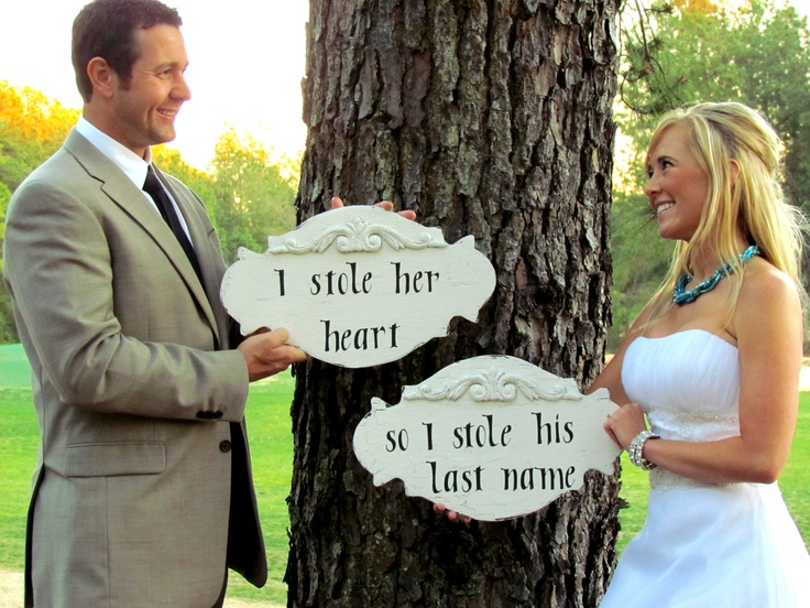 I stole her heart signs. (When you me the real MR. RIGHT!: Engagement Ideas, Heart Signs, Posts, Ideas 3, My Heart, Love It, I Stole Her Heart, Last Names, Photography Ideas