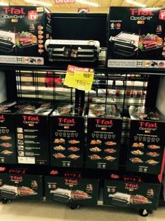 Big savings on t-fal grills in store! Great for cooking sandwiches, any meat you desire and more!! Come check them out!