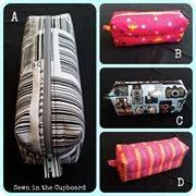 Handmade by Sharon at Sewn in the Cupboard  Boxy Pencil Cases!