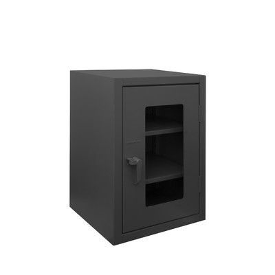 Durham Manufacturing Extra Heavy Duty Welded 12 Gauge Steel Clearview Counter Top Lockable Storage Cabinet
