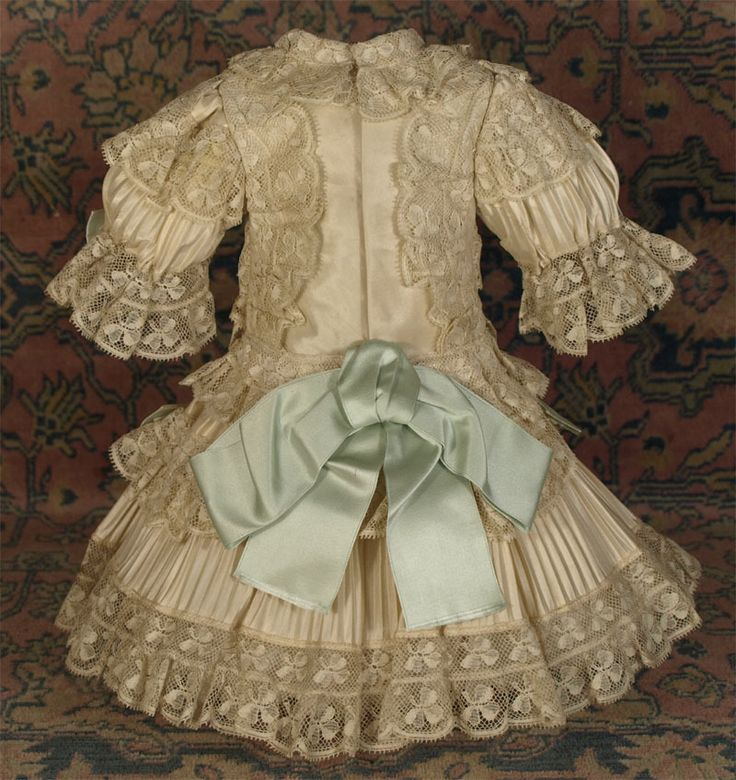 MARVELOUS Antique French Silk Bebe Couturier Costume for JUMEAU, BRU other French Doll
