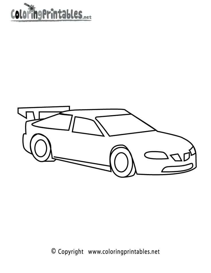 race car printables for kids racing car coloring page