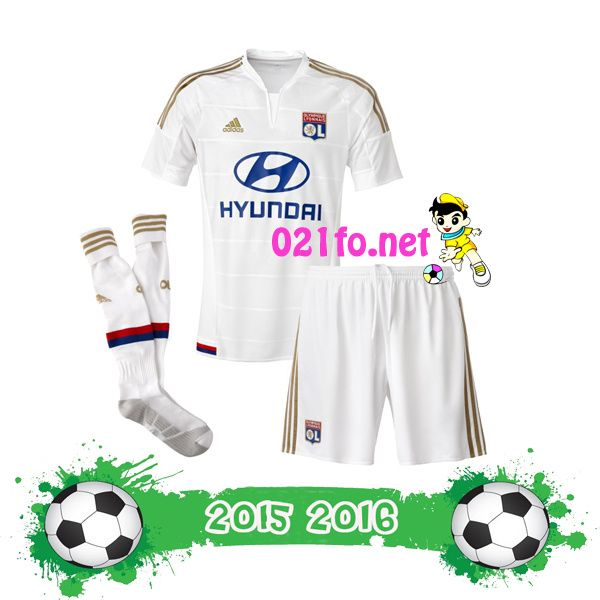 Image maillot ol 2016 troisième enfant blanc tee shirt lyon