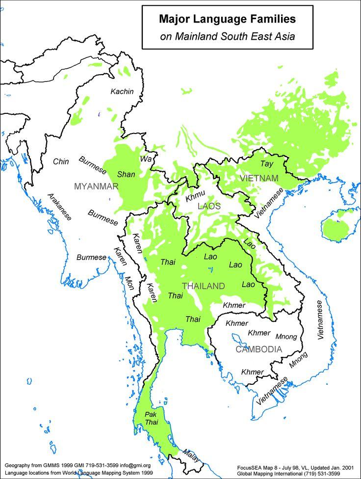 Geographic Distribution Of TaiKadai Language Family MAPS - World language mapping system