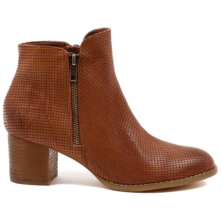 SENATE by Django & Juliette. These good looking zip up pin punched leather boots are the epitome of casual cool! Look street cred ready in an instant by pairing up with fitted jeans and a trench coat for winter or leather shorts in cool autumn. 6cmheel. Leather upper, leather lining. Manmade sole.