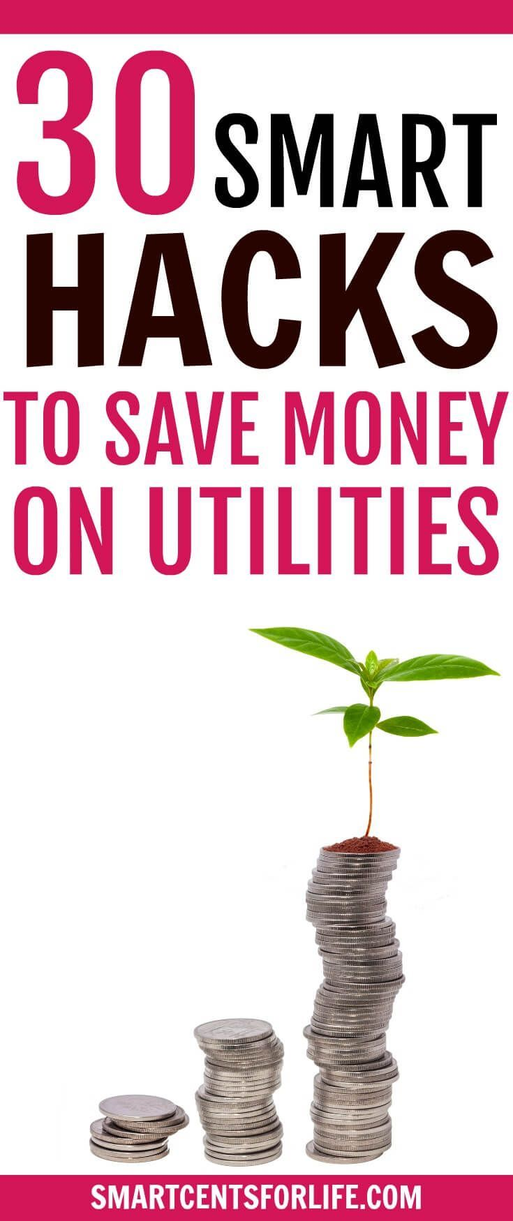 Are you looking to save money on your utility bills? Here are 30 smart ways to lower your utility bills at home! By implementing these simple tips around your house, you will be able to lower the costs of your utility bills at home and save hundreds of dollars per month! money saving ideas, ways to save money, tips to save money on utility bills, frugal living tips, how to save money on utilities, save money on bills, budget, money saving hacks, paying off debt, emergency fund, get o