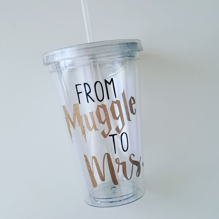 From Muggle to Mrs Tumbler-Bride Tumbler-Future Bride Cup-Bride Tumbler-Bride Tervis Tumbler-Gifts for Her-Engagement Gift-Harry Potter by ALittleLadyandMe