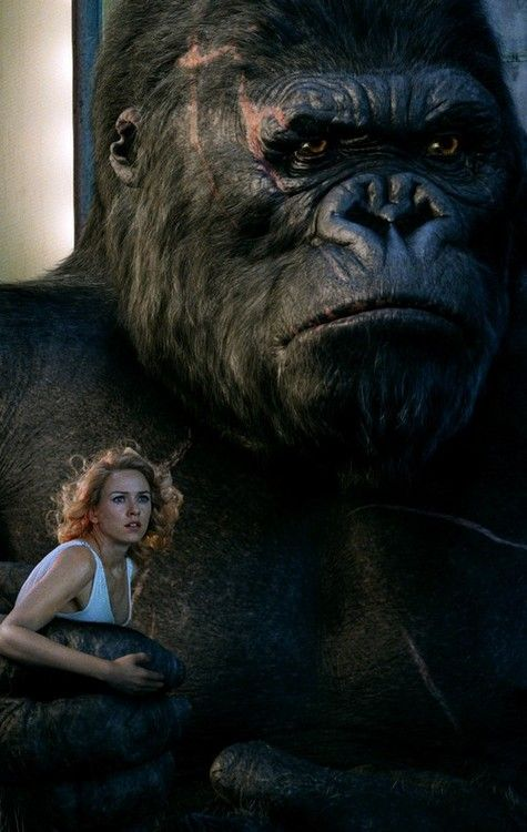 Naomi Watts and and Andy Serkis | King Kong, 2005.