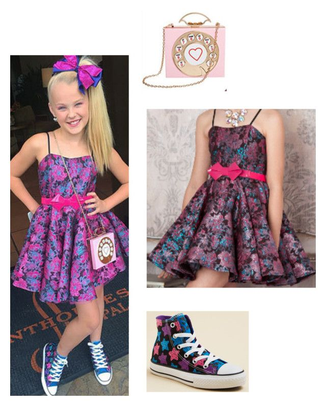"""""""JoJo Siwa Look-Dance Moms"""" by candy-girl-03 ❤ liked on Polyvore featuring SIWA and Converse"""