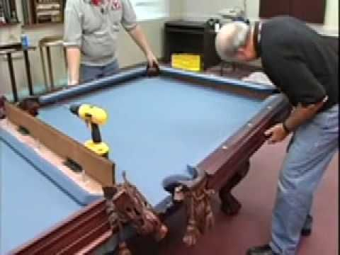 How to install a pool table - pockets and rails - Home Billiards