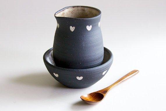 Heart Creamer + Sugar Bowl Set | BRIKA - A Well-Crafted Life