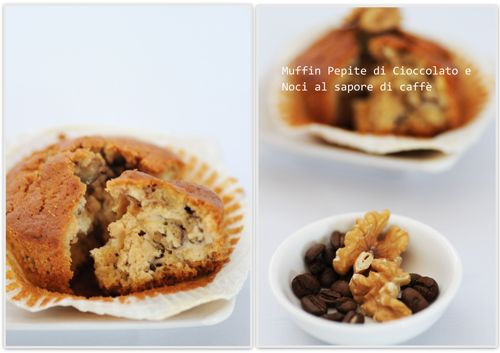 chocolate,nuts and coffee muffins