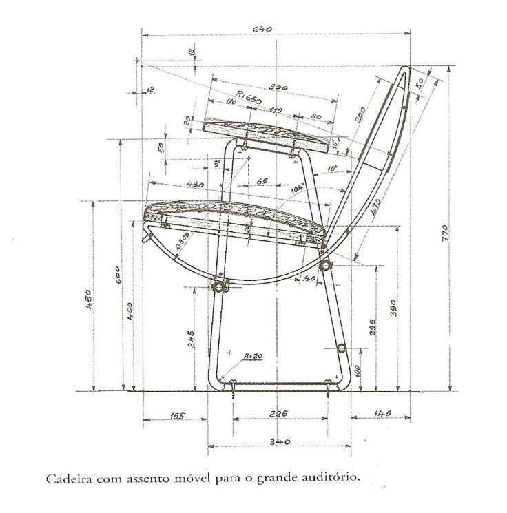 Chair design by Lina Bo Bardi.