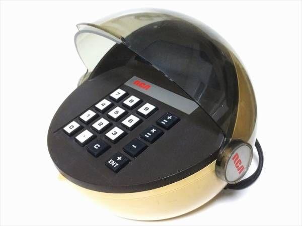 レア RCA LED 電卓 スペースエイジ イームズ パントン Kartell ミッドセンチュリー 昭和レトロ 雑貨 70s 70年代 インテリア ディスプレイ_はこBOON 送料無料