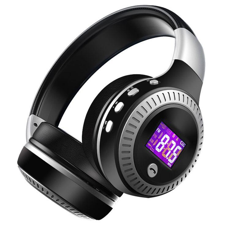 ZEALOT B19 HiFi Bass Stereo Bluetooth Headphone Wireless Headset LCD Display With Microphone FM Radio Micro-SD Card Slot //Price: $28.56//     #shop