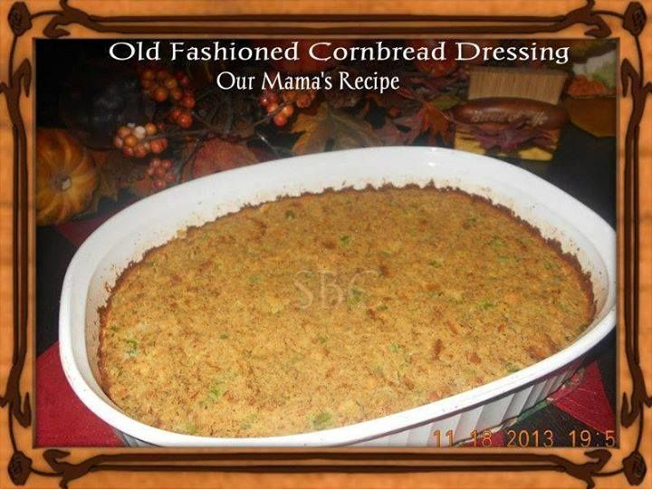 OLD FASHIONED CORNBREAD DRESSING Thanksgiving  Christmas holiday recipe