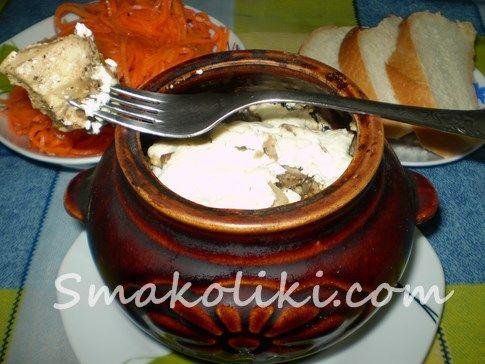Картофель с курицей и грибами в горшочке. Пошаговый рецепт с фото на Smakoliki.com