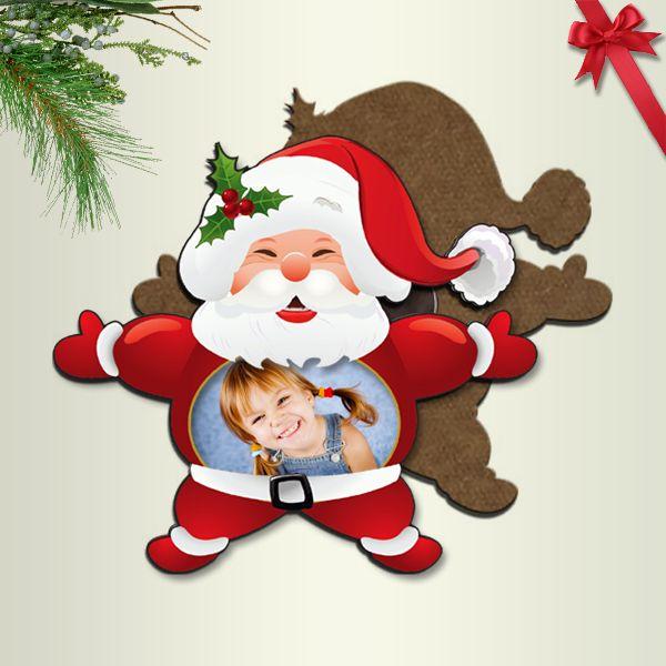 Fényképes karácsonyi hűtőmágnes - Mikulás
