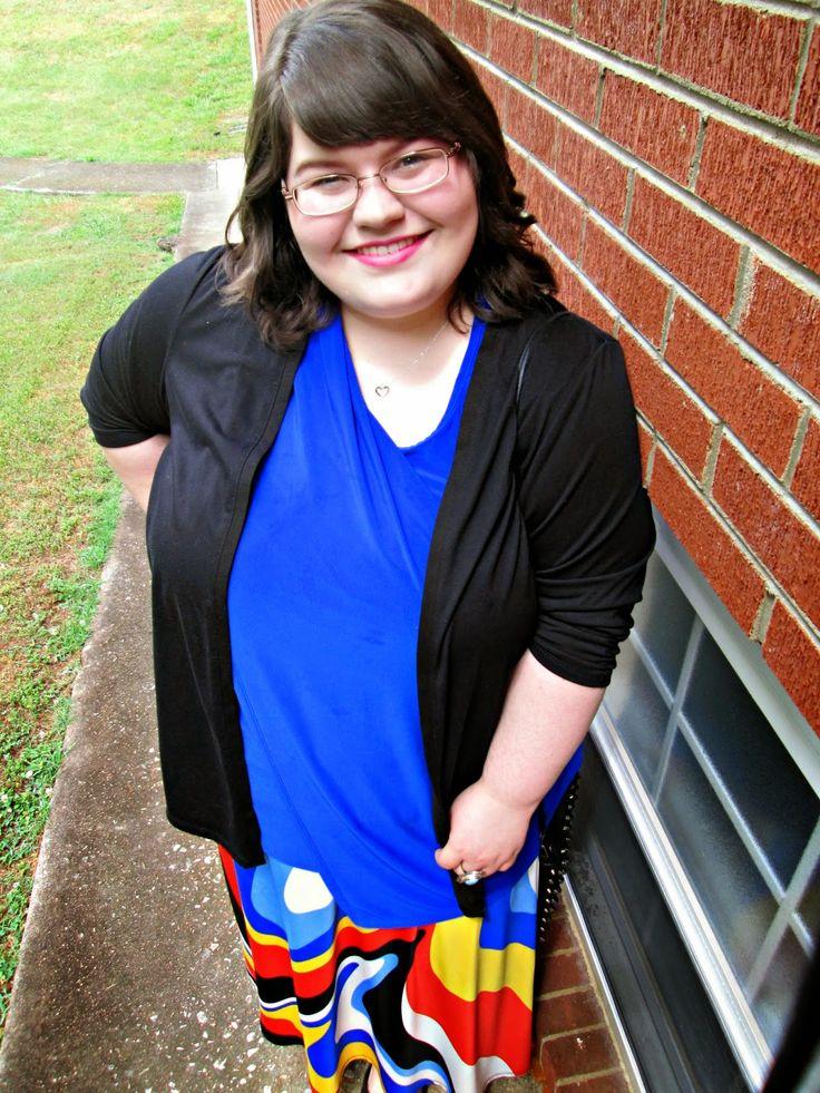 Unique Geek: Plus Size OOTD: The Toucan Skirt #plussizeoutfit #plussizefashionblogger #churchoutfit