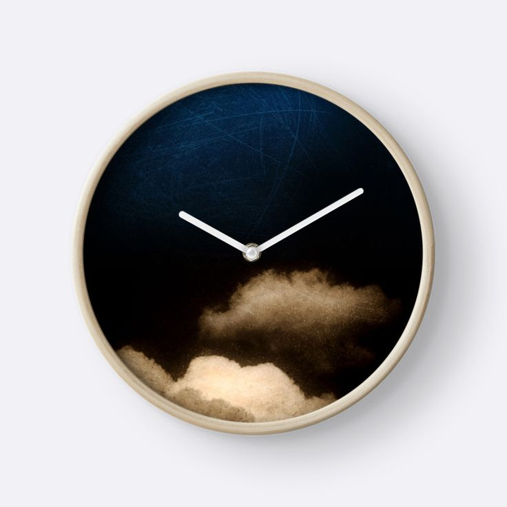 Clouds in a scratched darkness by Silvia Ganora #clocks #wallclocks #homedecor #abstract  -20% off everything. Enter YOUEARNEDIT at checkout !