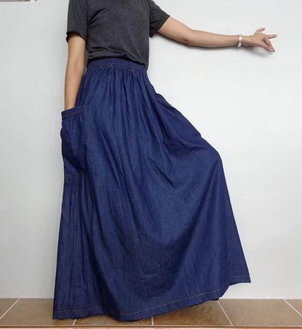 27 best Denim Skirt images on Pinterest