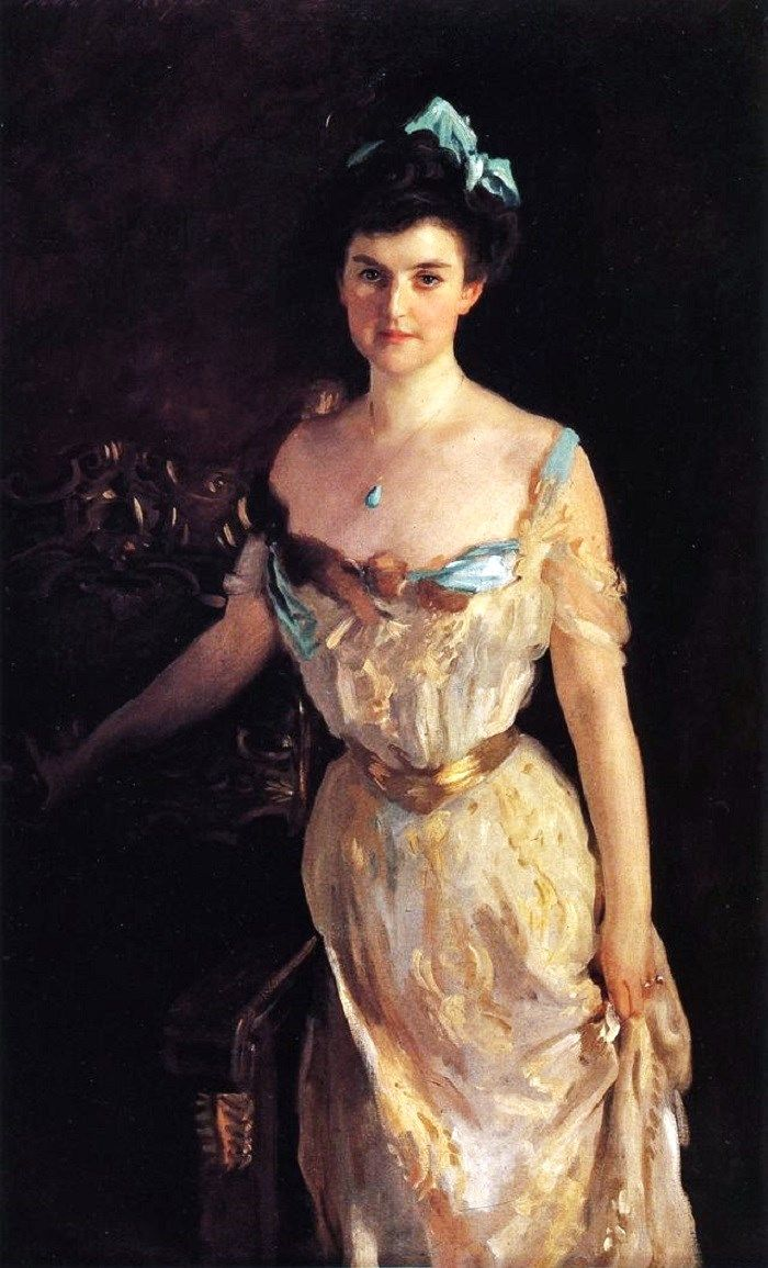 1903 John Singer Sargent (American expatriate artist, 1856-1925) Mrs. Charles Pelham Curtis  It's About Time