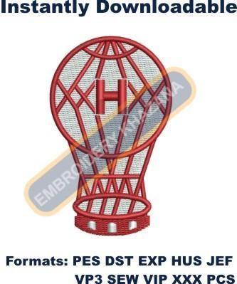 club Atletico Huracan Logo embroidery deisgn