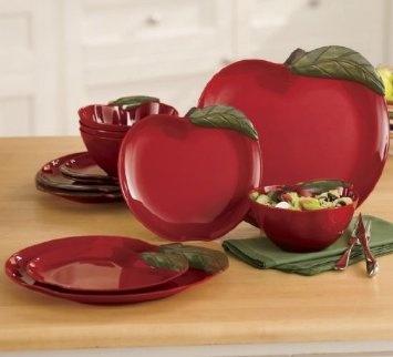 12 Piece Apple Dinnerware Set Kitchen Dining Home Home Decor 2 Pinterest