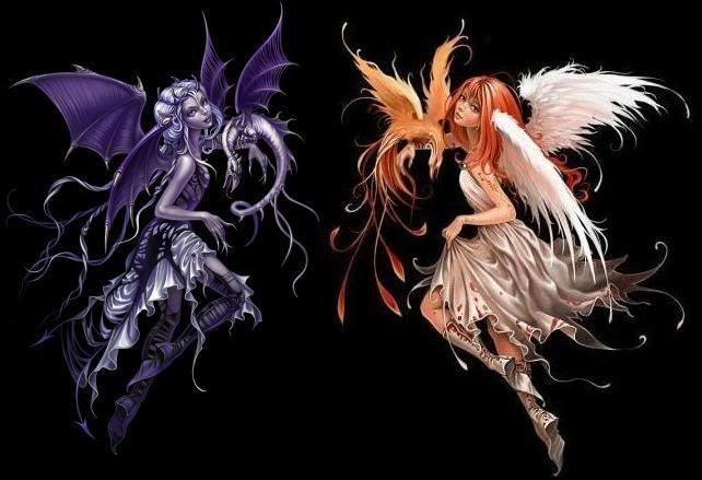 Dark and Light WiccaN Fairies: Fantasy, Dark Fairies Tattoo, Tattoo Inspiration, Wiccan Fairies Tattoo, Body Art, Fairies Gemini Tattoo, Wiccan Tattoo, Pagan Tattoo Ideas, Magic Creatures