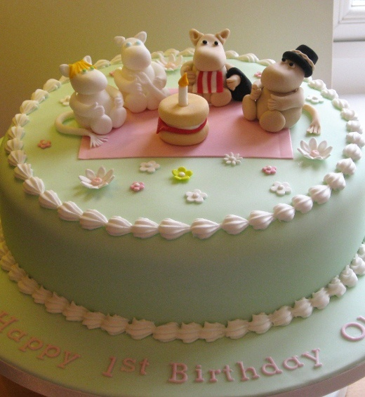 Moomin birthday cake. I remember the stories!! tales from Moomin Valley. What a throwback