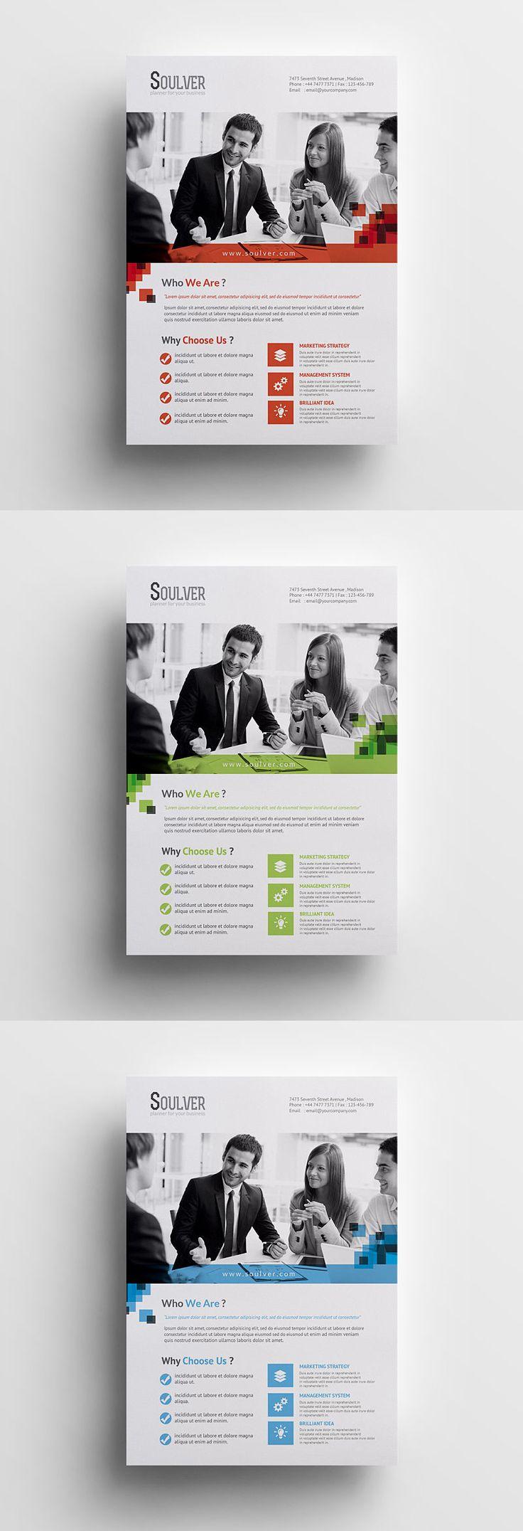 Modern Business Flyer Template AI, EPS, PSD